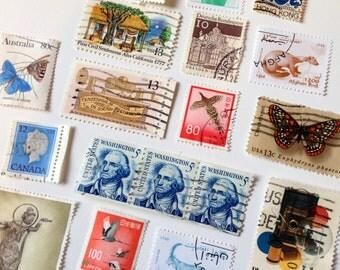 30 Vintage Postage Stamps