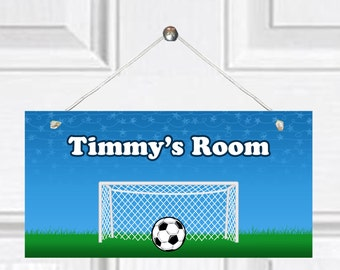 Personalized Child's Door Sign - Soccer theme