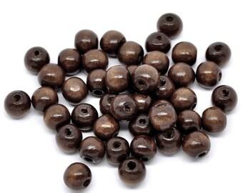 10MM Espresso Coffee Wood Beads