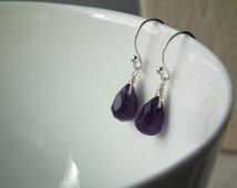 améthyste - sterling silver amethyst earrings