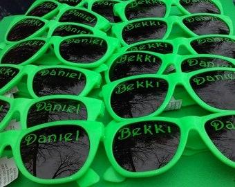 Personalized Sunglasses/Wedding Sunglasses/Beach Party Glasses