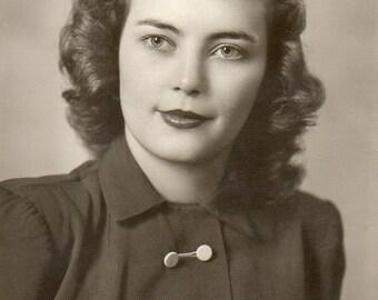 Antique Portrait of Pretty Lady