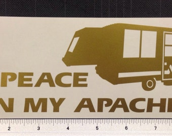Apache Vesely Pop Up Camper Decal Sticker RV popup FREE SHIPPING