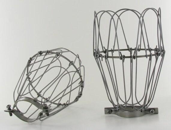 1x metal lamp cage edison bulb industrial lighting. Black Bedroom Furniture Sets. Home Design Ideas
