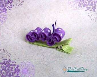 Caterpillar Ribbon Sculpture Hair Clip, Bug Hair Bow