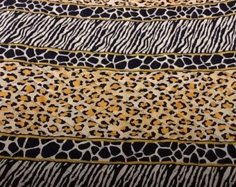 Animal print quilted fabric