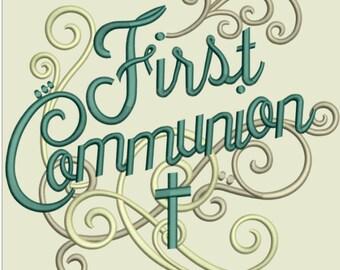 GG 1437 Swirly First Communion