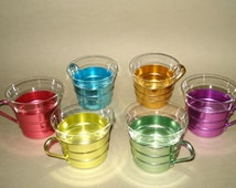 Set of 6 Vintage Russian Soviet Coffee Cup Glass Holders  with Glasses * Never used