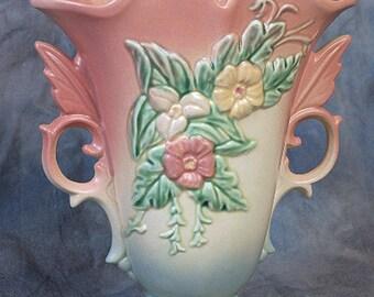 Hull Wildflower W-9 Vase, Hull Art Pottery, 1940's Art Deco Vase, A.E. Hull Pottery Co, Crooksville, Ohio