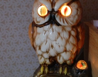 Vintage Owl Nightlight