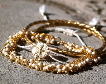 White Coral Bracelet Mix