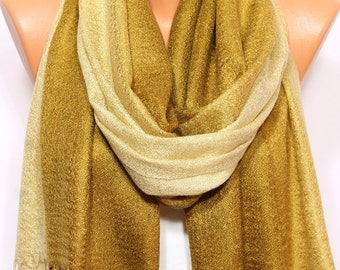 Gold Mustard Scarf Shawl Fall Winter Fashion Holiday Fashion Hijab Turban Fringed Shawl Scarf Women's Fashion Accessories Gift Ideas For Her