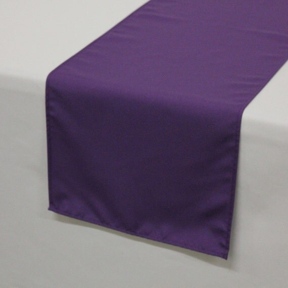 Purple Polyester Table Runner Wedding Table By Yourchaircovers