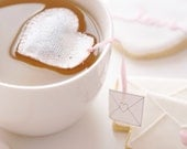 Heart shaped tea bags Love Letter - cute - pink - gift - Valentine's Day - Spring - Tea Time - Brunch