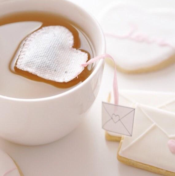 Sachet de thé coeur Love Letter