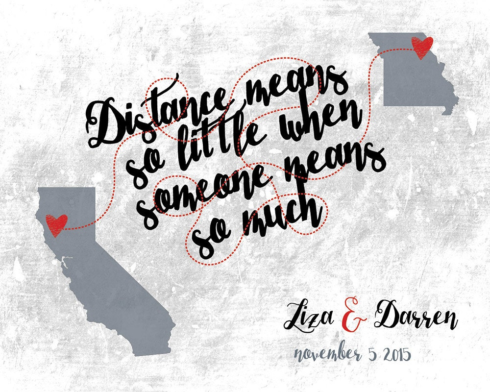 long distance map custom world map wedding guest book