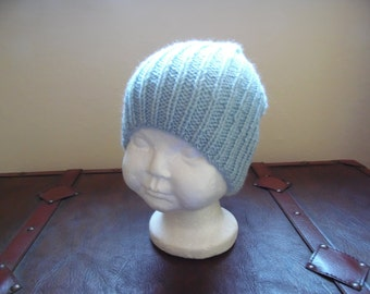 Hand knitted baby boys hat