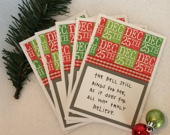 Christmas Polar Express Quote blank cards (set of 5, with envelopes)