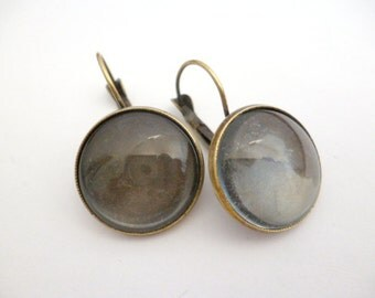 Set Brass Base Earrings and Glass Cabochon_R06554654654_Kits_Earrings of 18 mm_pack 8 pcs