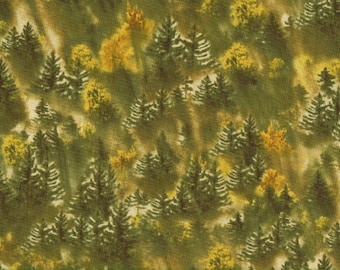 Northwest Trees 100% Cotton Fabric Sold by Half Yard (23483)