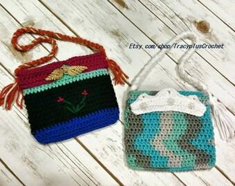 Princess purses. Crochet Princess purse. Princess bag. Princess purse. Child size Princess bag. Crochet. Handmade to order.