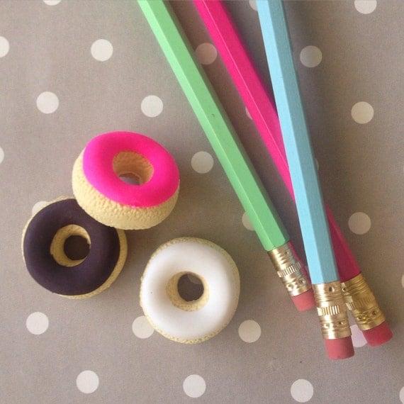 Cute donut erasers