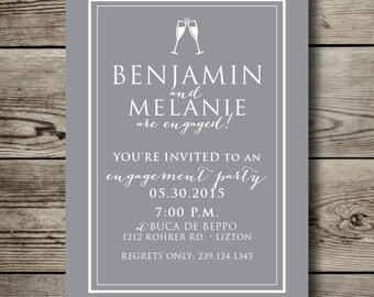 CLASSIC printable ENGAGEMENT PARTY invitation