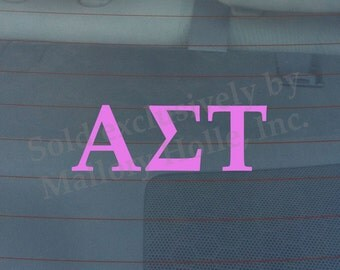 "Officially Licensed Alpha Sigma Tau 8"" x 3"" Bumper Sticker / Window Decal"