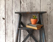 Custom order for Amy ~ One Gray ladder and One Natural wood Ladder