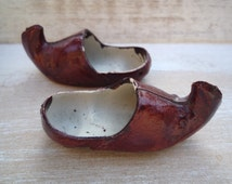Vintage Miniature Shoes, Turkish, Arabian, Aladdin Shoes, Curiosity, Turned up Pointed Slippers, Collectable Souvenir Curio, Doll's Shoes