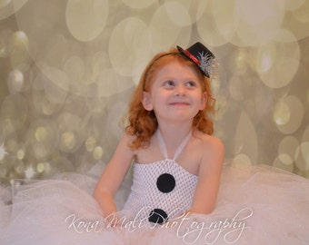 Snowman Tutu Dress, Christmas Tutu Dress, Christmas Dress, Holiday Tutu Dress, Snow Man Tutu Dress and Headband Size 4T-8
