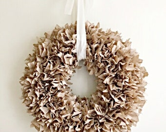 "Gorgeous Paper Wreath  20"""