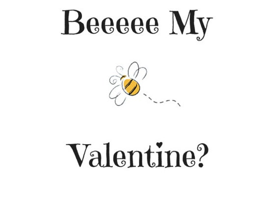 Instant Download!! Beee My Valentine Card