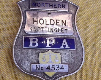 Vintage Bookmakers License  Badge F.Holden Bookies On Course Official Badge