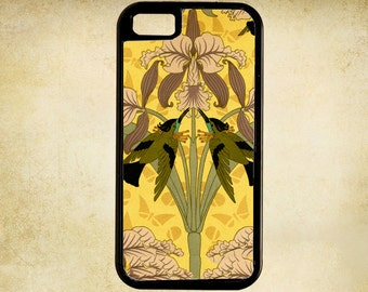 An Art Nouveau Symmetrical Print of Birds and Flowers, late 19th Century iPhone Case 4, 4s, 5, 5C, 6, 6+ and Samsung Galaxy 3, 4, 5, 6, Edge