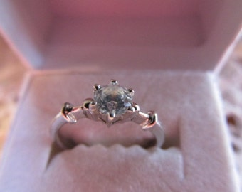 Vintage Sterling Silver Engagement Type Ring