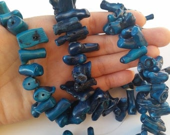 Blue Coral Branch Beads, Blue Coral, Large Coral, Jewelry Supplies, Large Coral Branch, Beads