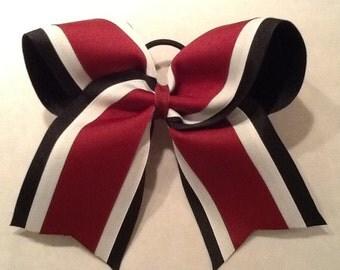 Black White Maroon Grosgrain Cheer Bow Softball Bows Volleyball Bows Soccer Bows