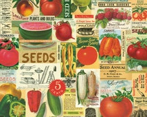 Vintage Fruits and Vegetables, Cavallini & Co. Decorative Wrapping Paper, Decoupage, Book-binding, Wall Hanging, Paper Crafts