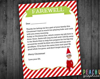 Items similar to Elf on the Shelf Goodbye Letter- PDF Elf on the shelf ...