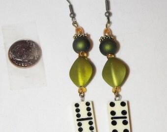 Bead and Dice Earrings
