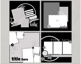 Mixin It Up 12x12 Digital Scrapbooking Templates