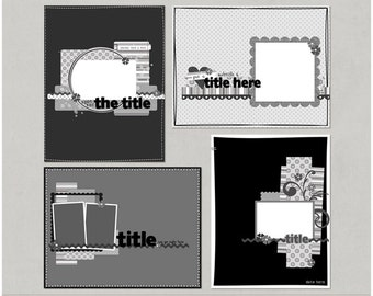 Angie'licious Set 4 - 8.5x11 Digital Scrapbooking Templates
