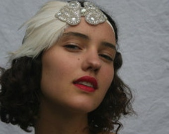 Custom headbands Great gatsby 1920s custom headpieces, custom made wedding headpieces Flapper Headpieces, 1920s Glamour Girl Headbands