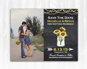 Sunflower Save The Date Magnet or Card DIY PRINTABLE Digital File or Print (extra) Country Save The Date Chalkboard Save The Date Photo