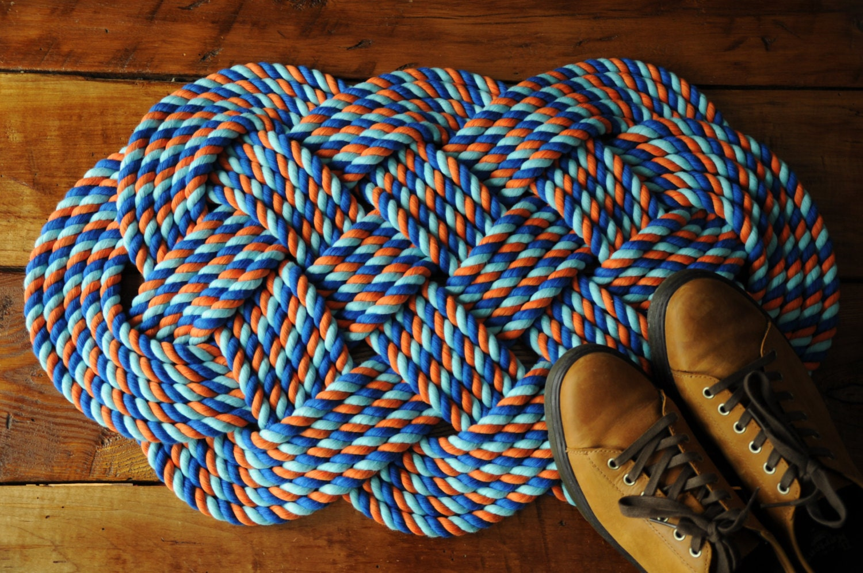 Nautical Decor Rope Rug Cotton Bath Mat Wedding Gift By Oyknot