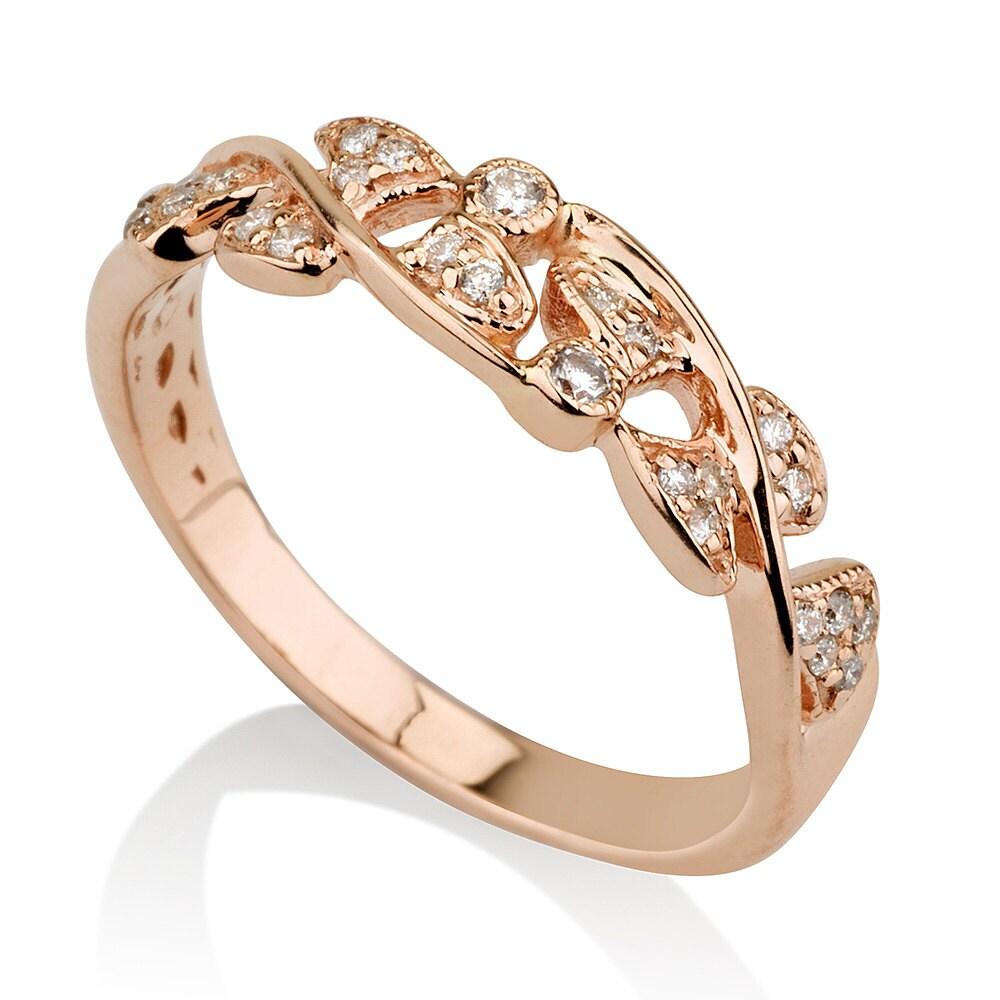 leaves wedding ring gold ring wedding band leaf ring