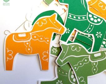 Swedish  DALA HORSE paper garland