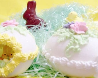 Beautiful Panoramic Decorated Sugar Easter Egg (1) with ENCHANTING little window.(MEDIUM SIZE)