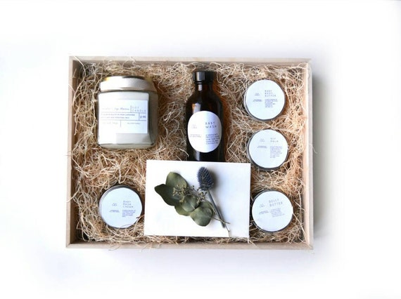 Mother And Baby Gift Box : New mom and baby gift box by figandmoss on etsy
